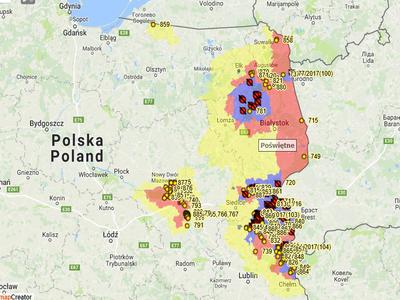 Nová lokalita výskytu AMP na severu Polska