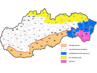 Slovensko: Od 17. ledna se výskyt afrického moru rozšiřuje o okres Košice