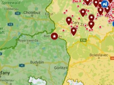 AMP je v Sasku, asi 50 km od českých hranic