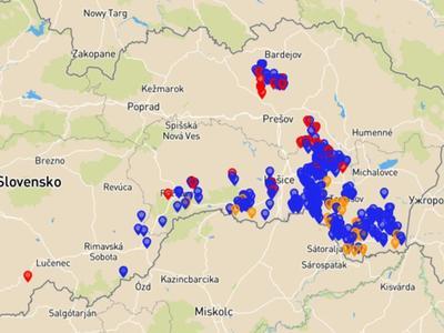 """AMP na Slovensku """"poskočil"""" o 45 km na západ"""